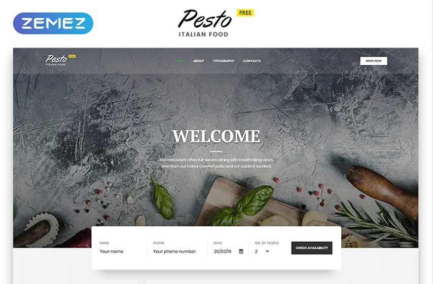 2_Cafe-Restaurant-Free-Website-Templates - Top 111+ Free Responsive HTML5 Website Templates [year]