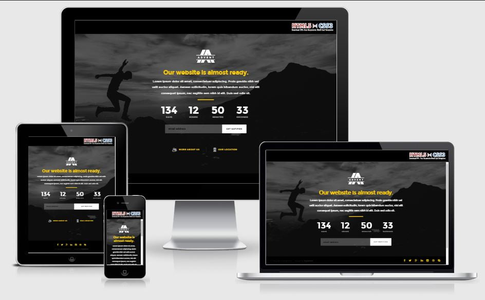 3.advent - 58+ Free Under Construction HTML Responsive Templates [year]