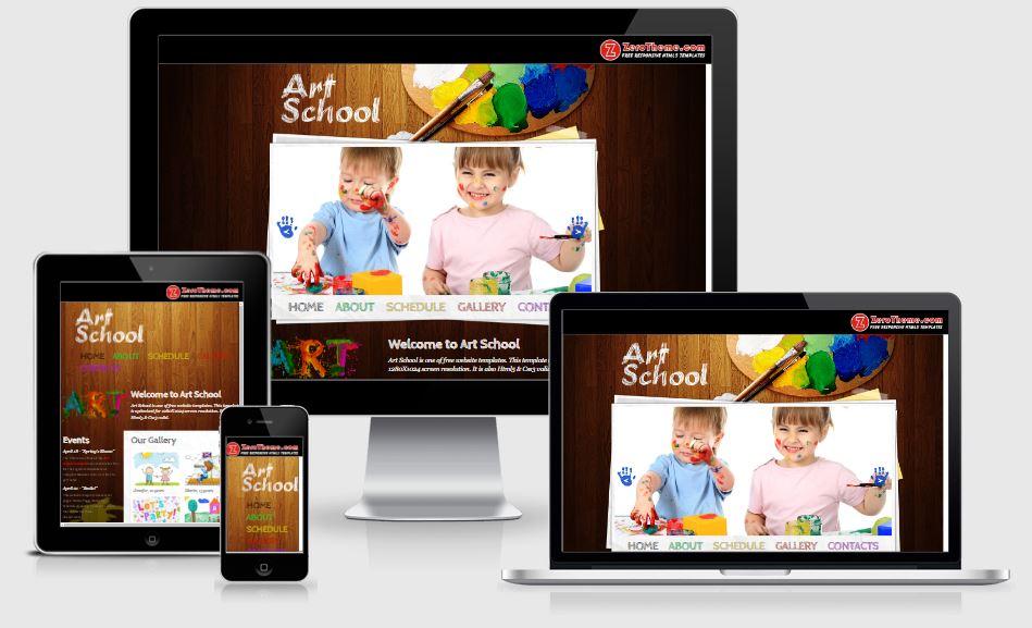 5-Art-School - 58+ Free Under Construction HTML Responsive Templates [year]