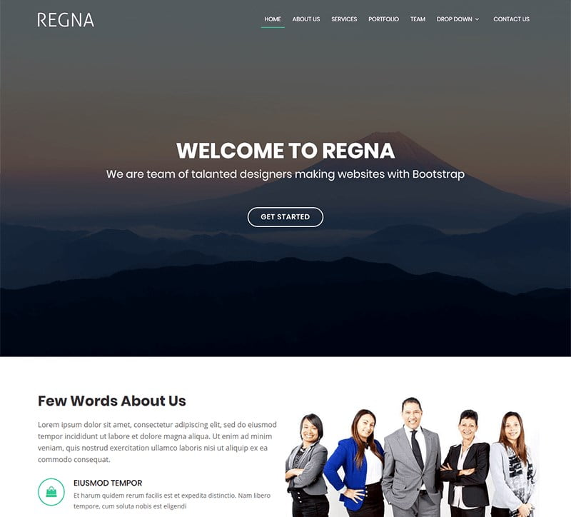 5-regna-agency-template - 57+ Best Free Digital Agency HTML Website Templates