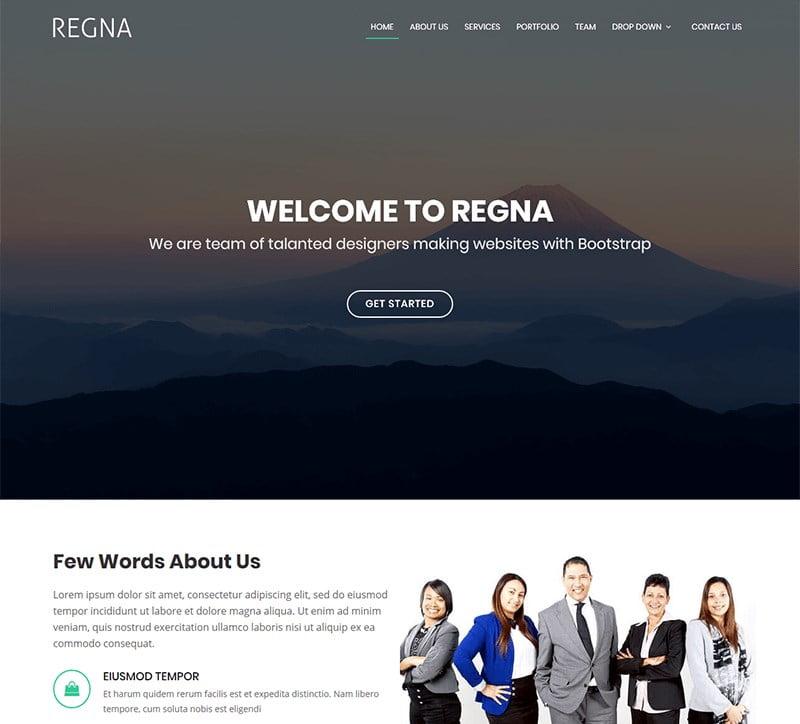 5-regna-agency-template - 57+ Best Free Digital Agency HTML Website Templates [year]