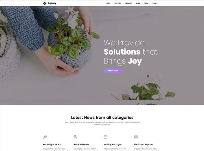 6-creative-agency-website-template - 57+ Best Free Digital Agency HTML Website Templates [year]