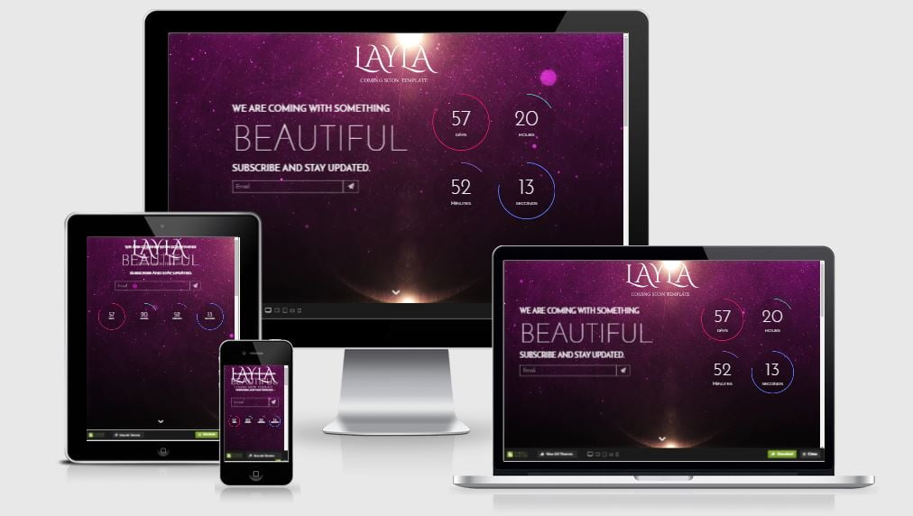 8-Layla - 58+ Free Under Construction HTML Responsive Templates [year]