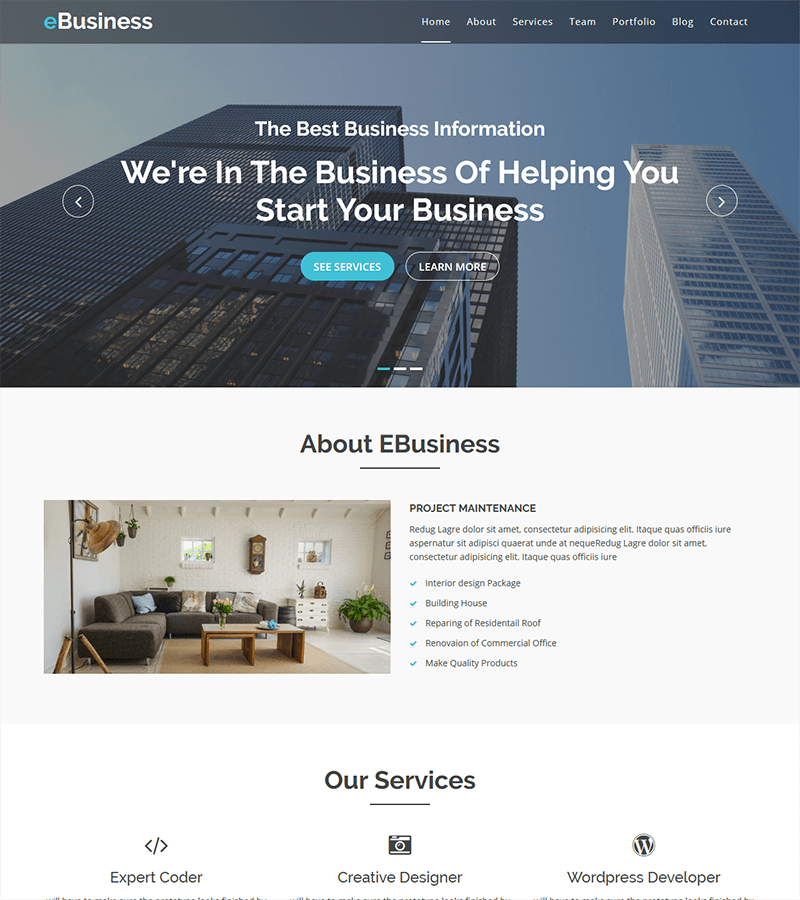 800-5 - 110+ Free Bootstrap HTML Responsive Templates 2019