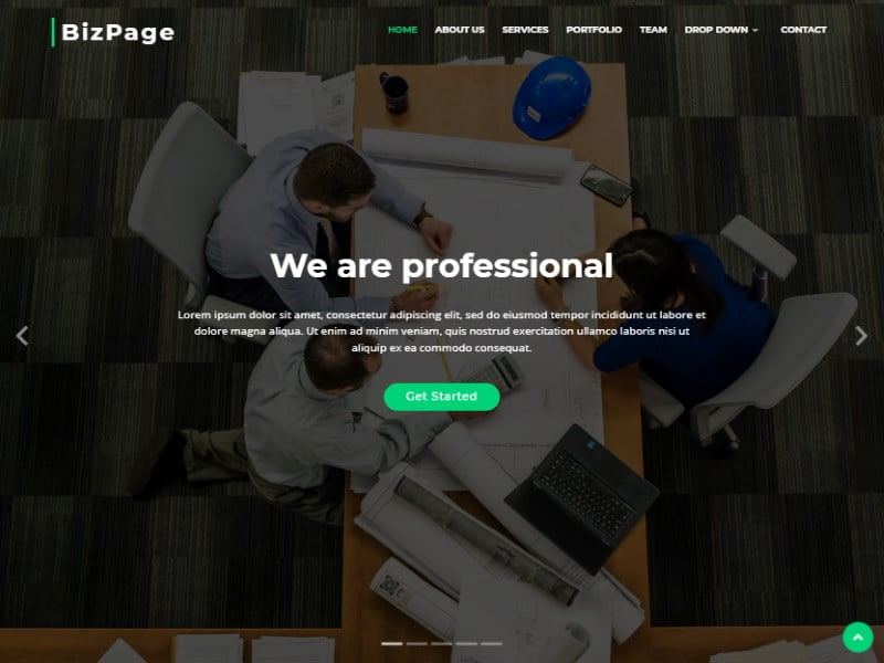 9-biz-page-bootstrap-template - 57+ Best Free Digital Agency HTML Website Templates [year]