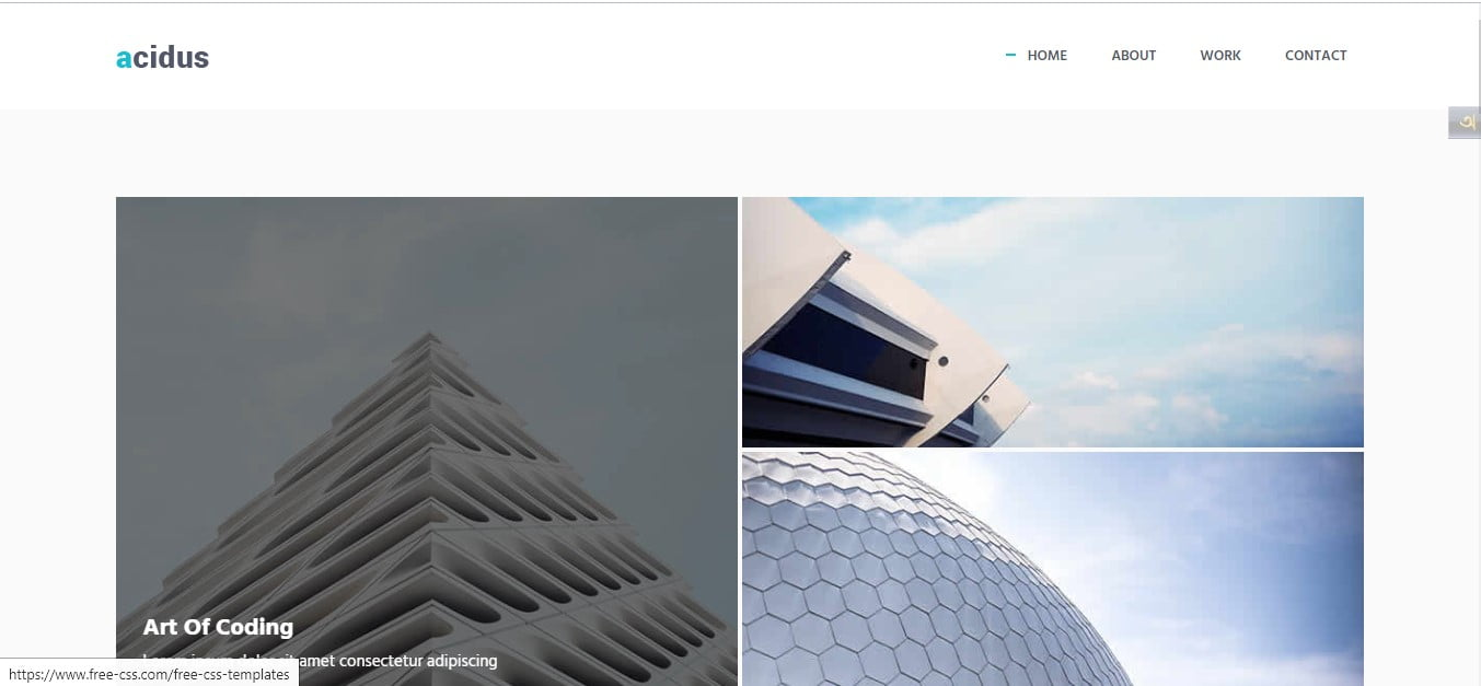ACIDUS - 56+ Best Free Architecture HTML Website Templates [year]