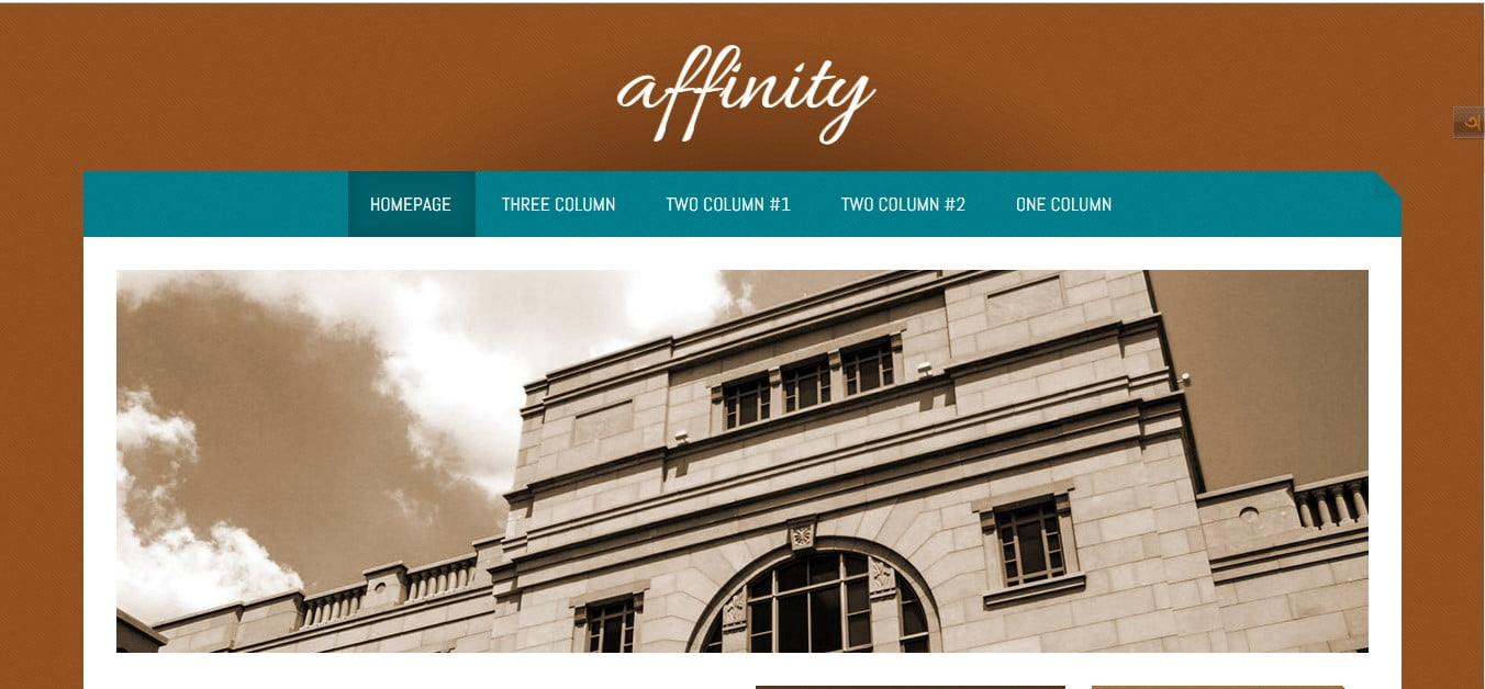 AFFINITY - 56+ Best Free Architecture HTML Website Templates [year]