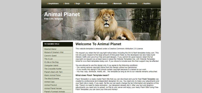ANIMAL-PLANET - 56+ Best Free Animals & Pets HTML Website Templates