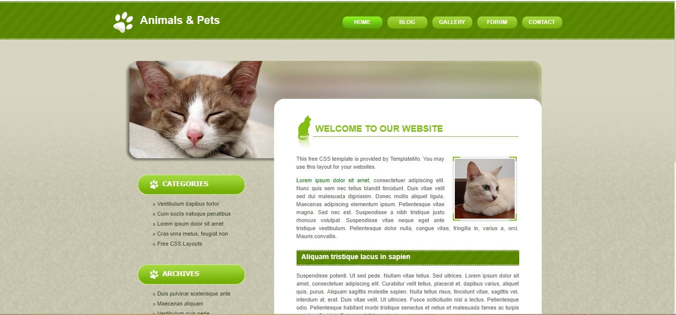 ANIMALS-PETS-FREE-CSS-TEMPLATE - 56+ Best Free Animals & Pets HTML Website Templates