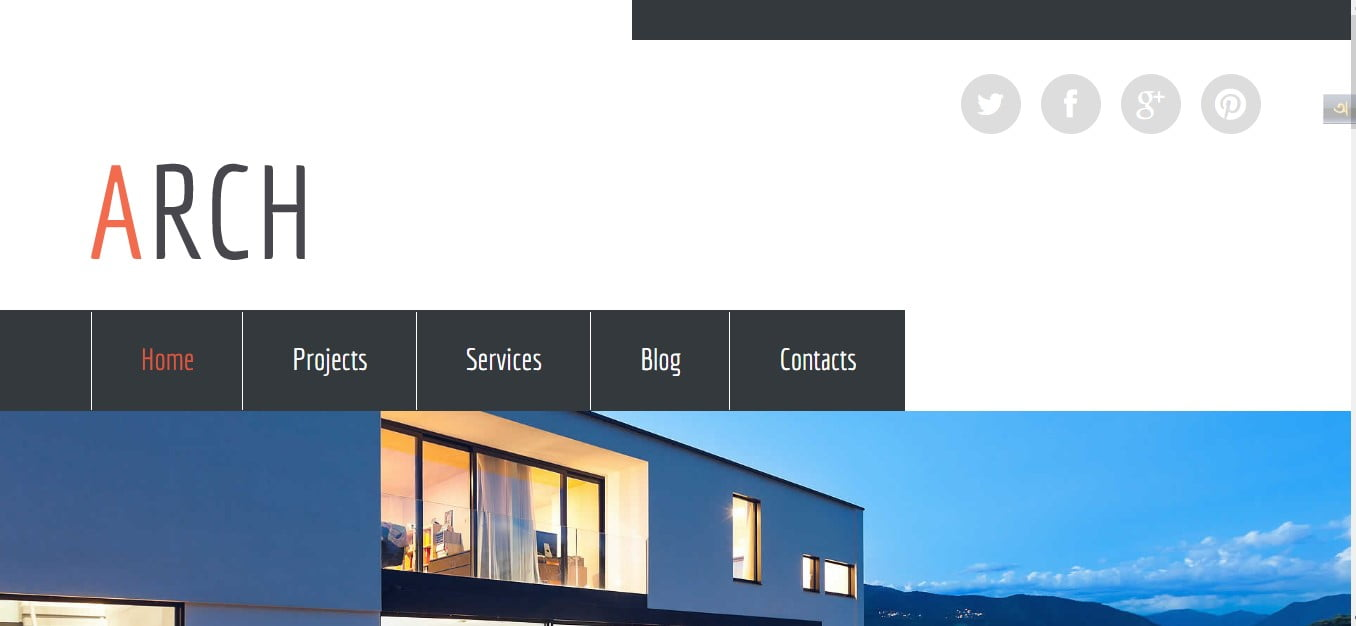 ARCH - 56+ Best Free Architecture HTML Website Templates [year]