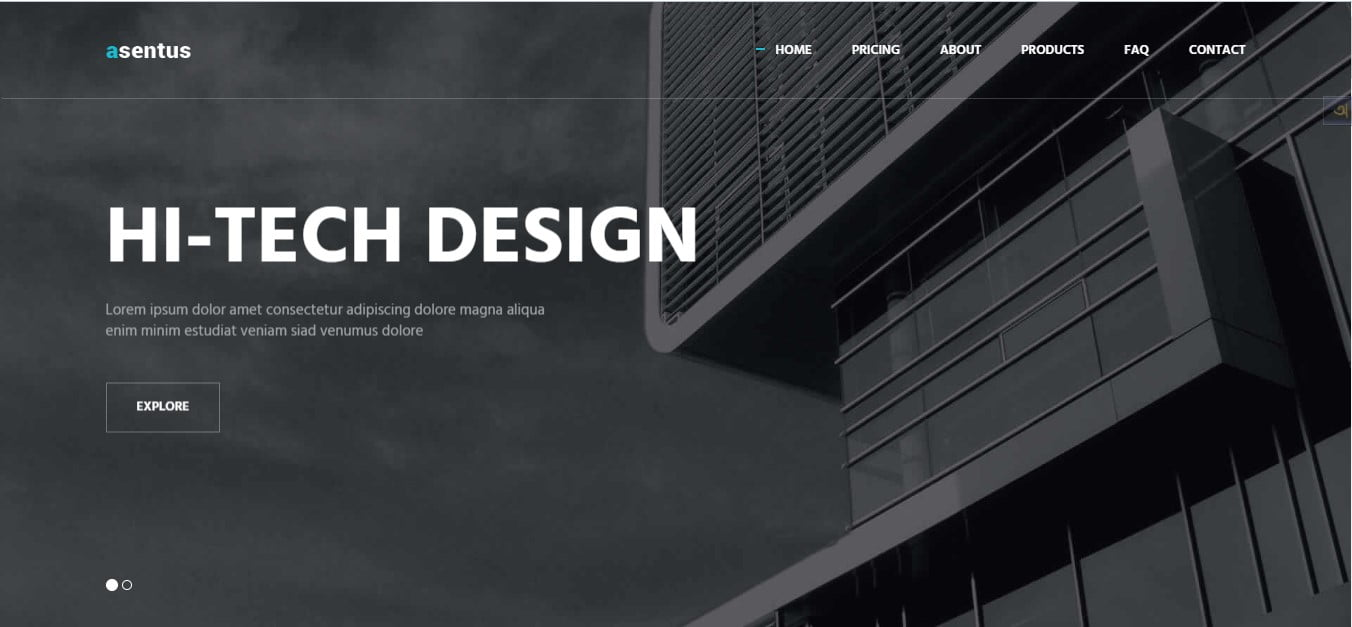 ASENTUS - 56+ Best Free Architecture HTML Website Templates [year]