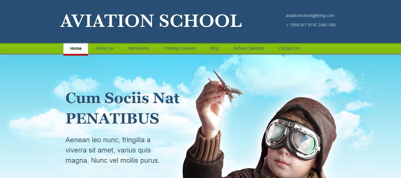 AVIATION-SCHOOL - 57+ Best Free Education HTML Website Templates