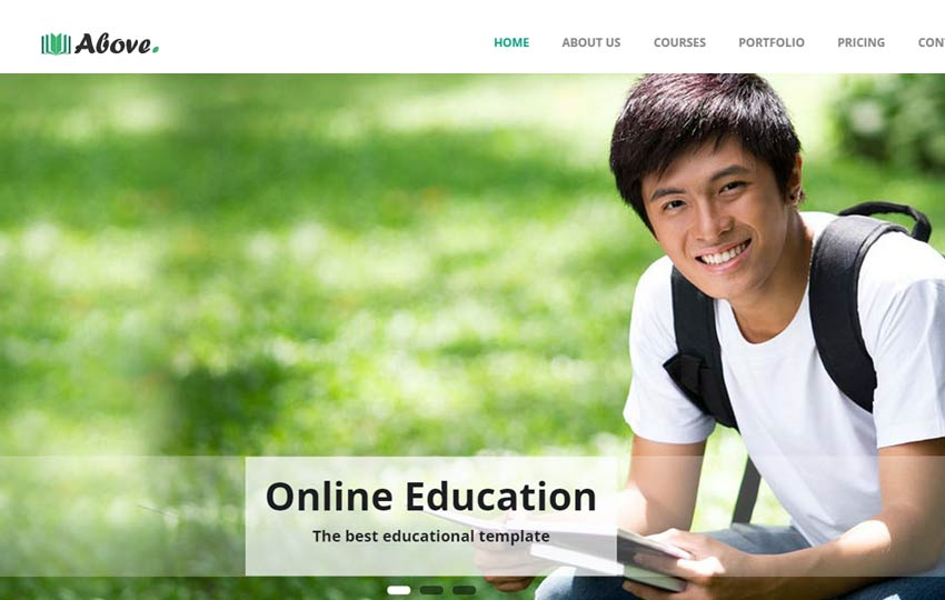 Above-Educational-Bootstrap-Responsive-free-Template - 57+ Best Free Education HTML Website Templates