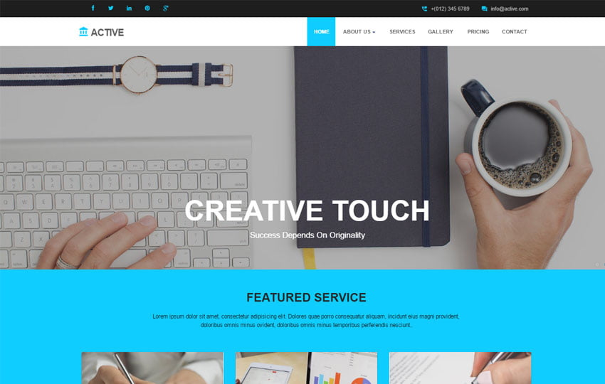 Active-Multi-purpose-HTML5-Template-1 - 57+ Best Free Digital Agency HTML Website Templates [year]