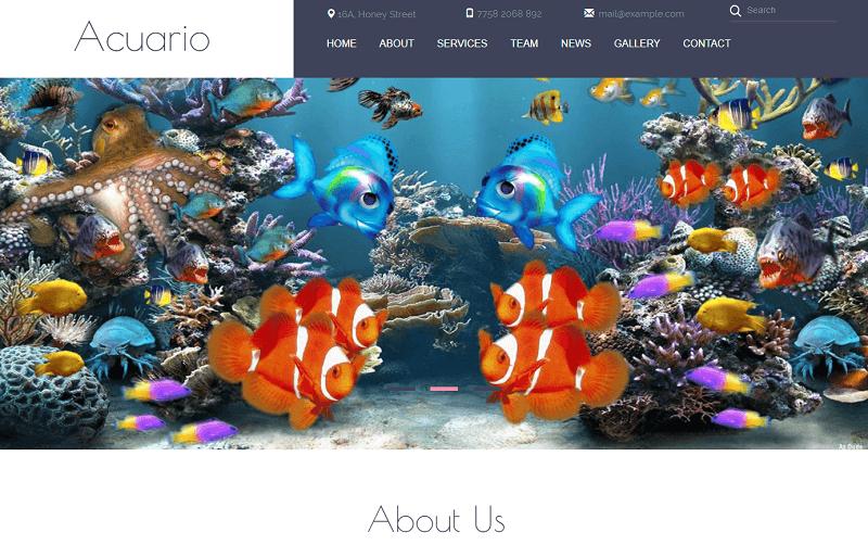 Acuario-1 - 56+ Best Free Animals & Pets HTML Website Templates
