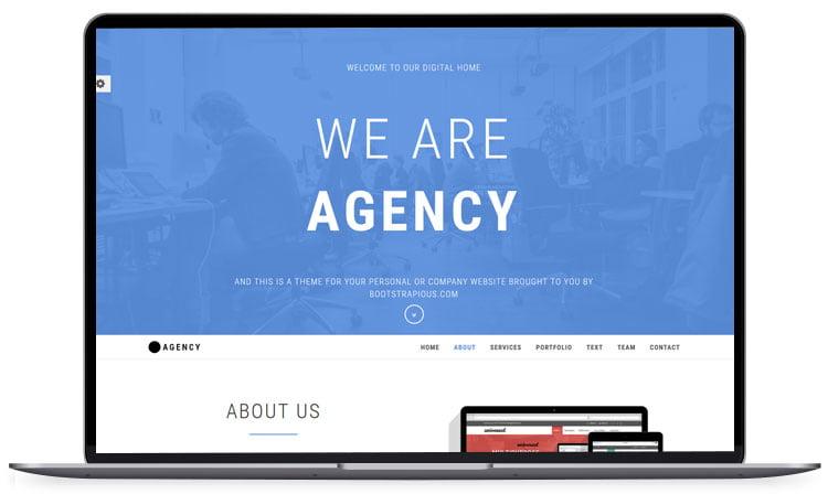 Agency - 62+ Best Free HTML5 Website Templates 2019