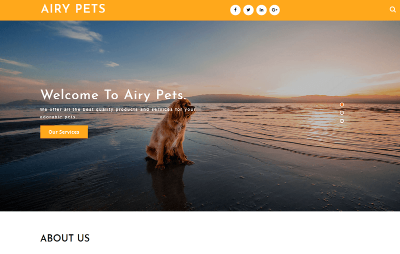 Airy-Pets-1 - 56+ Best Free Animals & Pets HTML Website Templates