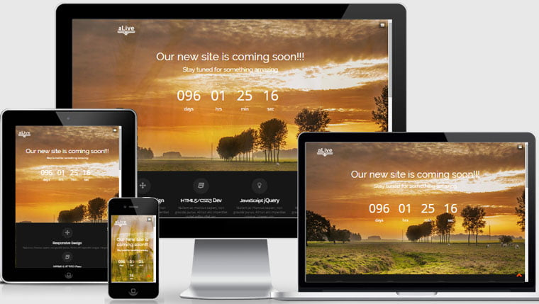 Alive - 56+ Best Free App Landing Page HTML Website Templates [year]