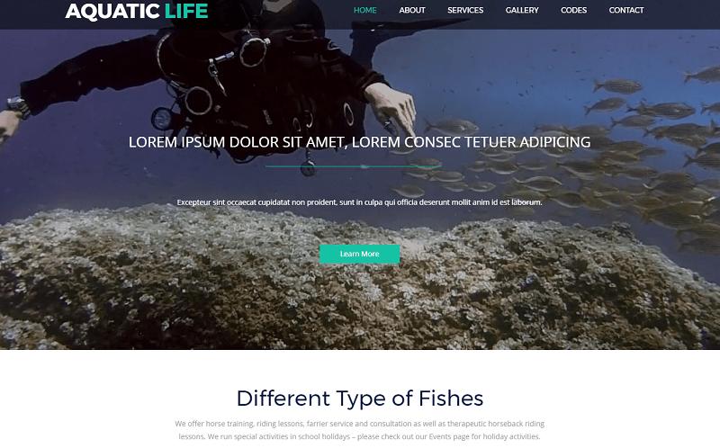 Aquatic-Life-1 - 56+ Best Free Animals & Pets HTML Website Templates