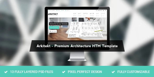 Arkitekt - 56+ Best Free Architecture HTML Website Templates [year]
