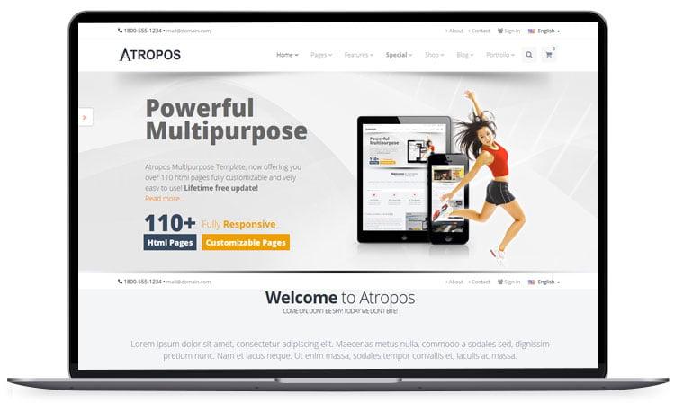 Atropos-Responsive-Website-Template - 62+ Best Free HTML5 Website Templates 2019