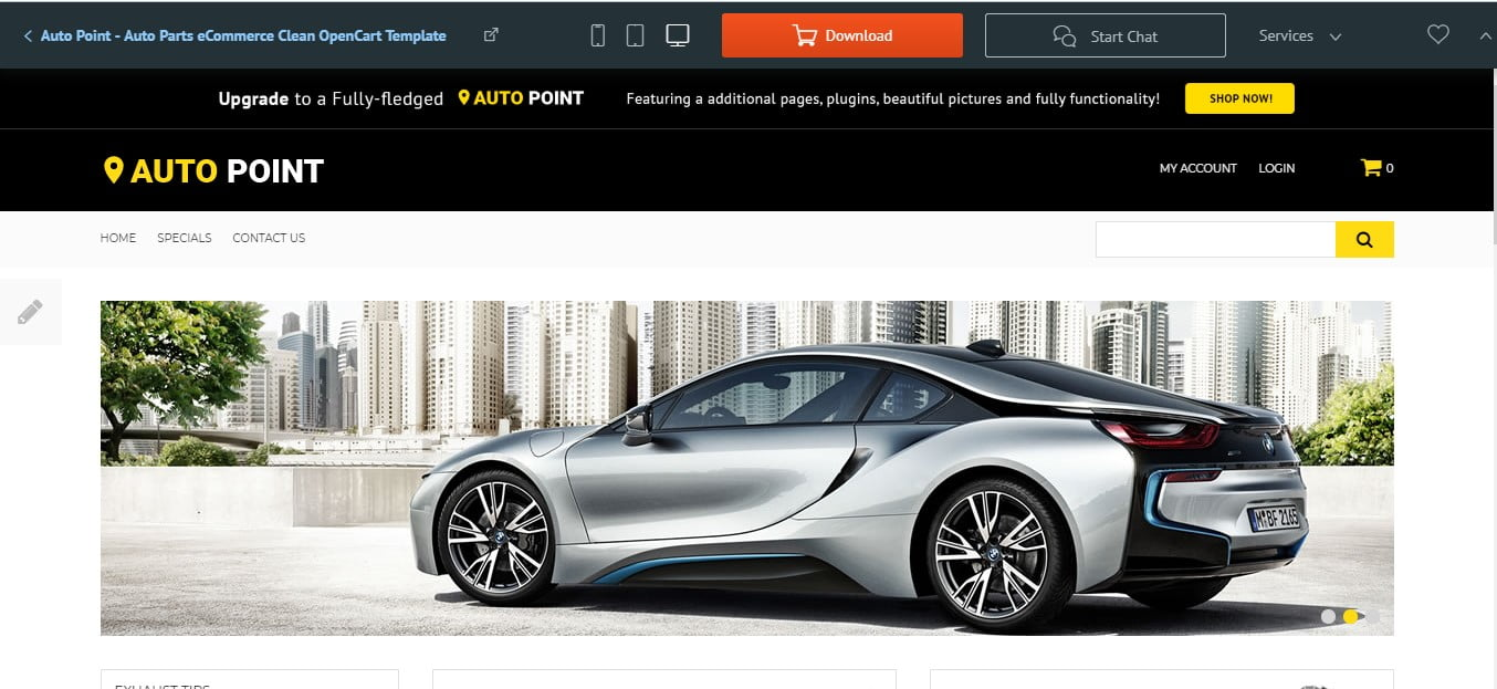 Auto - 75+ Free Responsive Automobile HTML Template 2019