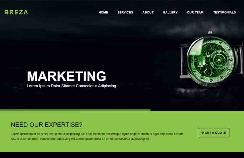BREZA-Corporate-Bootstrap-Template-1 - 57+ Best Free Digital Agency HTML Website Templates