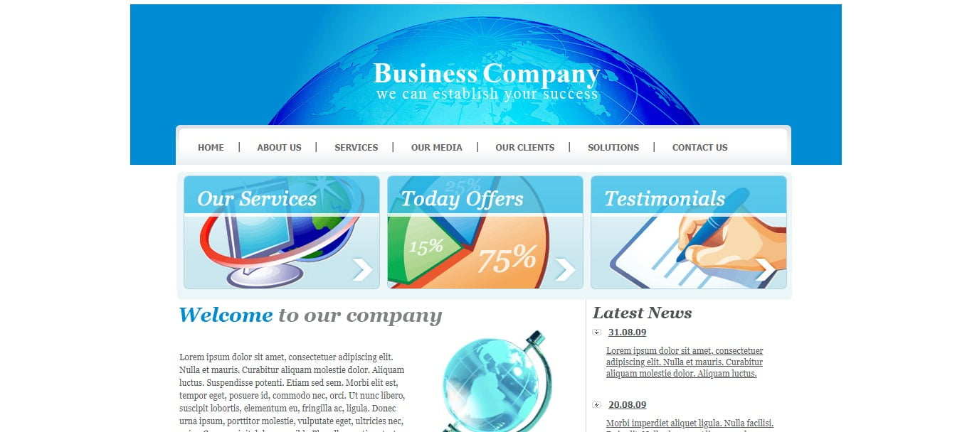 BUSINESS-COMPANY - 57+ Best Free Education HTML Website Templates