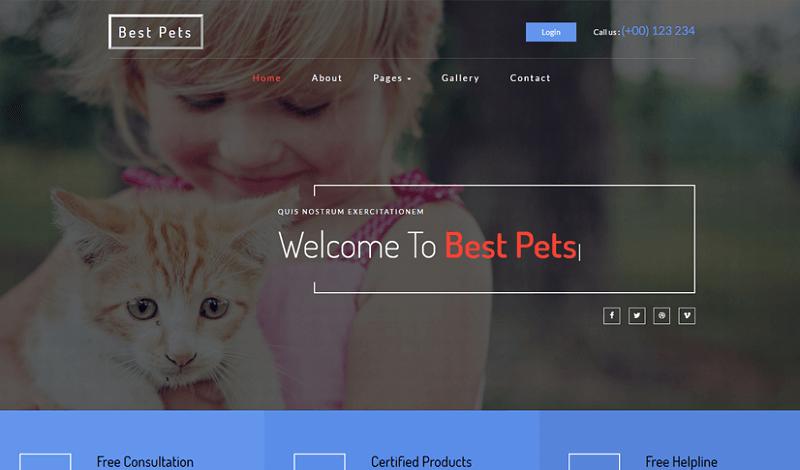 Best-Pets-1 - 56+ Best Free Animals & Pets HTML Website Templates
