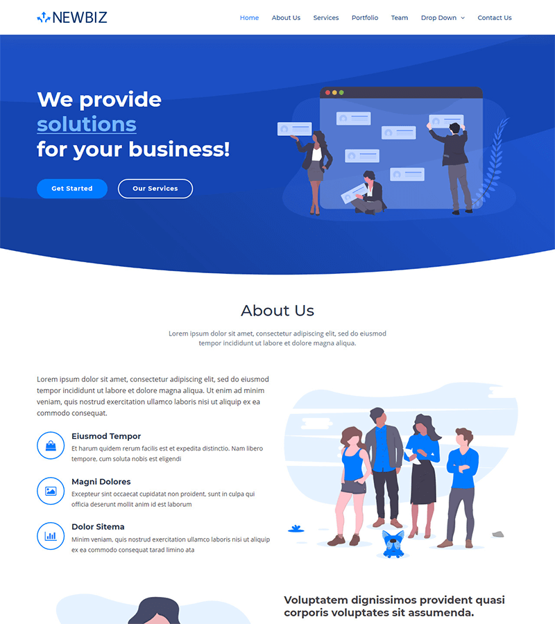 Bootstrap-2 - 110+ Free Bootstrap HTML Responsive Templates 2019
