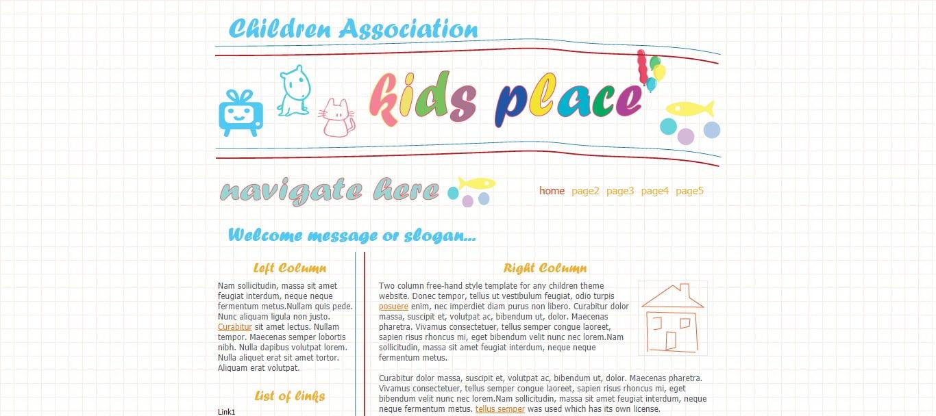 CHILDREN-ASSOCIATION - 57+ Best Free Education HTML Website Templates