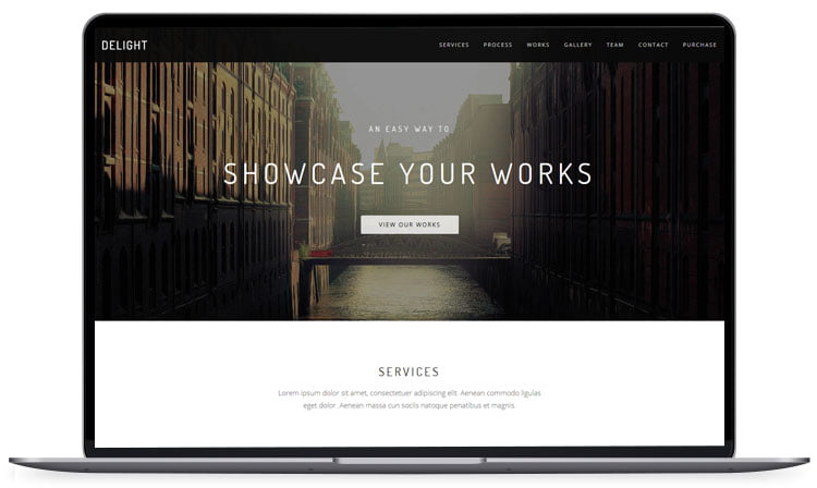 Delight-Multipurpose-One-Page-Template - 62+ Best Free HTML5 Website Templates [year]