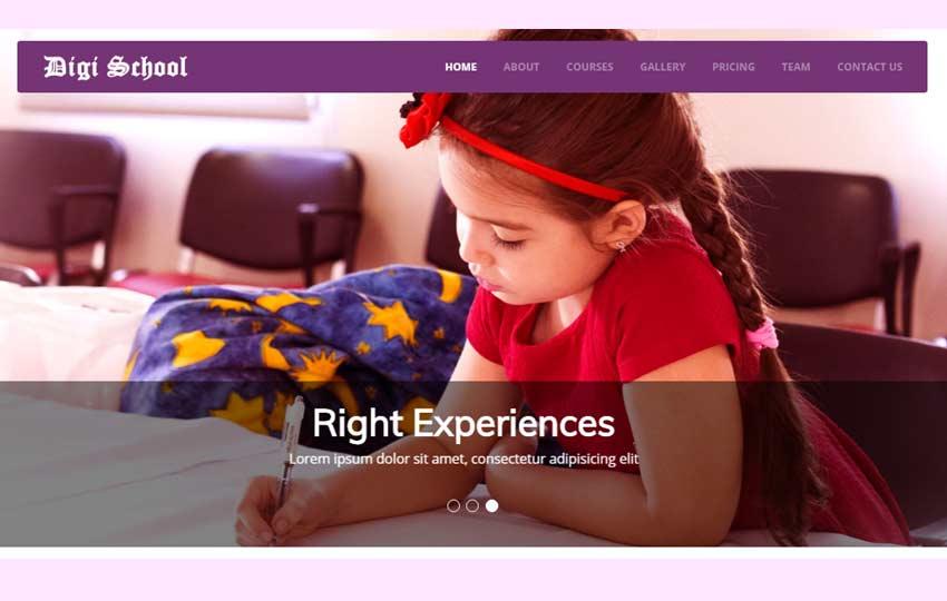 Digi-School-Free-HTML5-Template-1 - 57+ Best Free Education HTML Website Templates