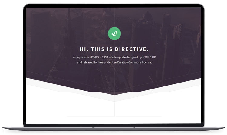 Directive-HTML5-Website-Template - 62+ Best Free HTML5 Website Templates [year]