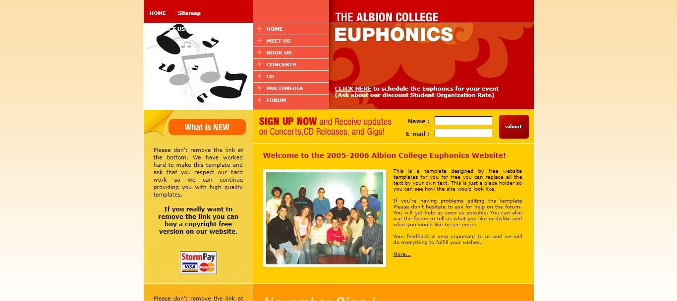 EUPHONICS - 57+ Best Free Education HTML Website Templates