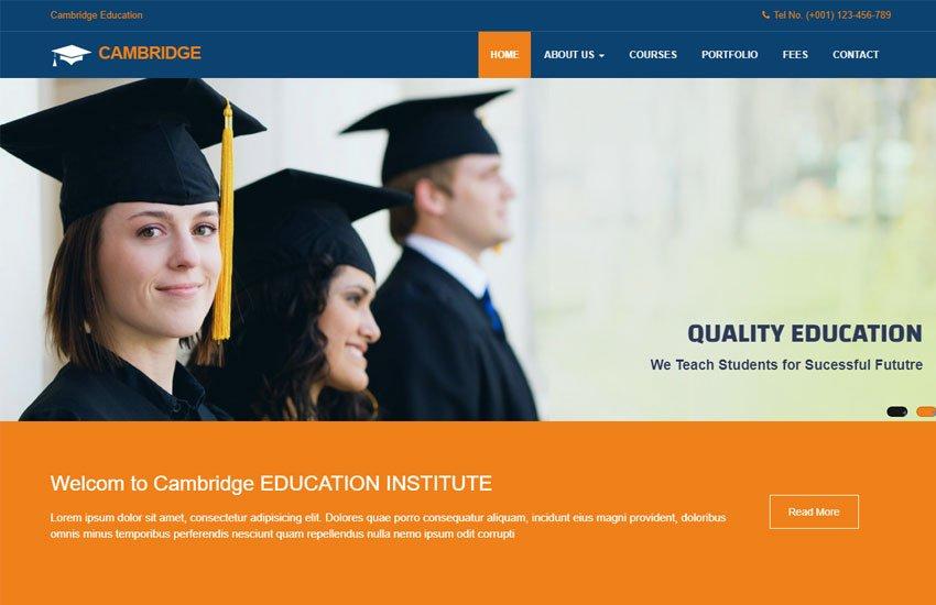 Education - 57+ Best Free Education HTML Website Templates