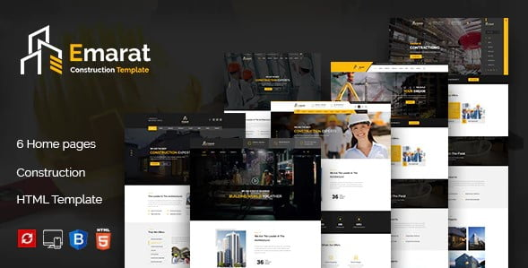 Emarat - 56+ Best Free Architecture HTML Website Templates [year]