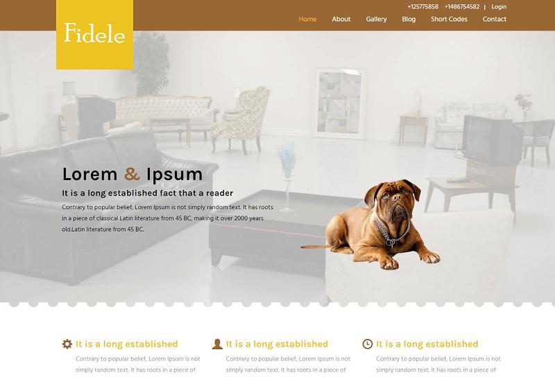 Fidele-2 - 56+ Best Free Animals & Pets HTML Website Templates