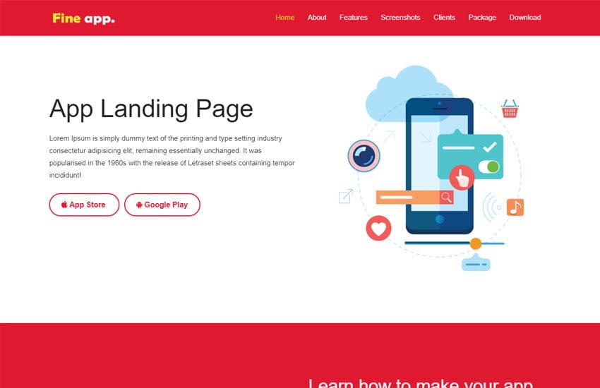 Fine-Best-App-Landing-Page