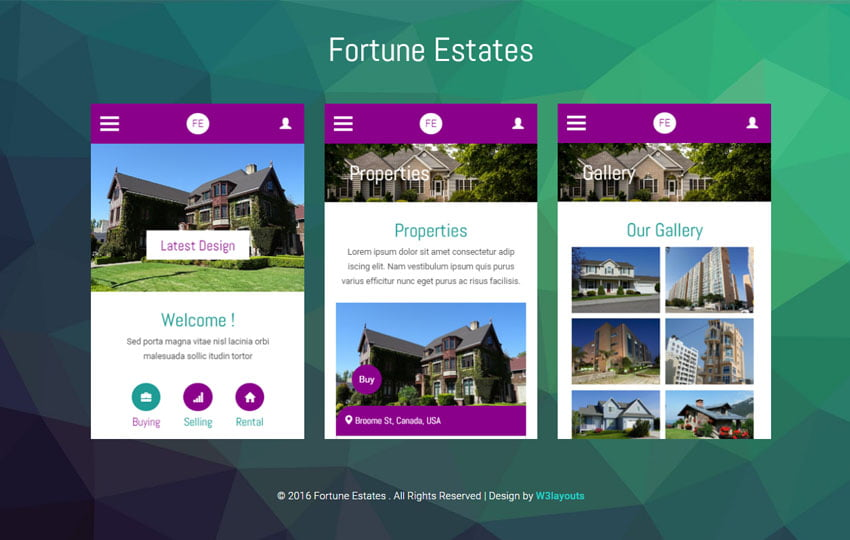 Fortune-Estates - 56+ Best Free App Landing Page HTML Website Templates [year]