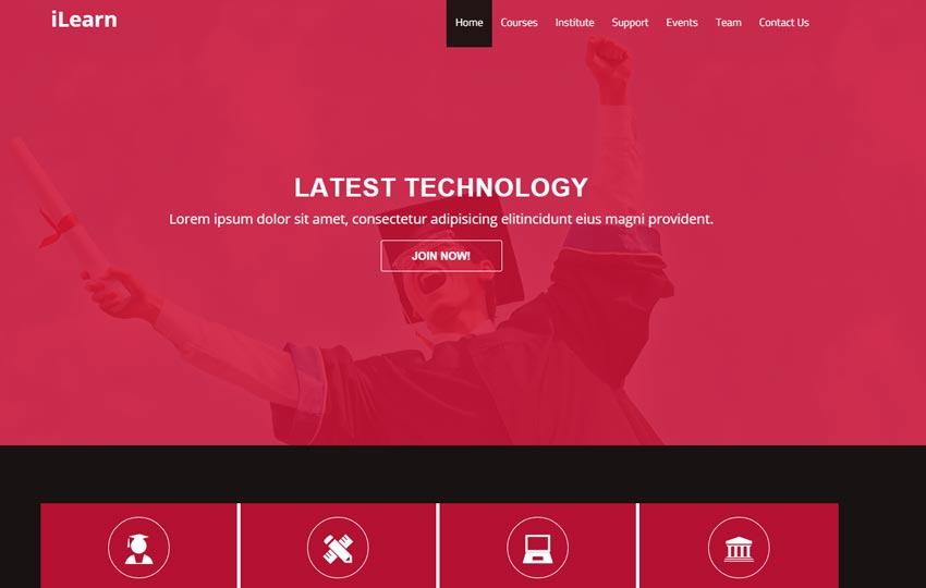 Free-Education-HTML5-Template-iLearn - 57+ Best Free Education HTML Website Templates