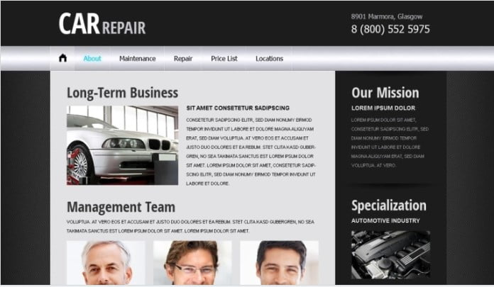 Free-Website - 75+ Free Responsive Automobile HTML Template 2019