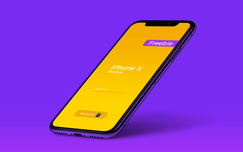 Free-iPhone-X-Perspective-Mockup-of-2018 - 100+ Best Free IPhone X Mockup Templates