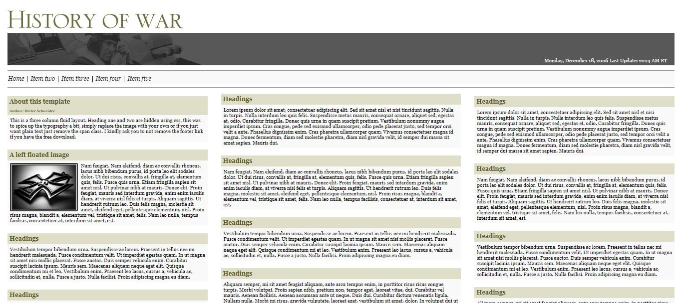 HISTORY-OF-WAR - 57+ Best Free Education HTML Website Templates