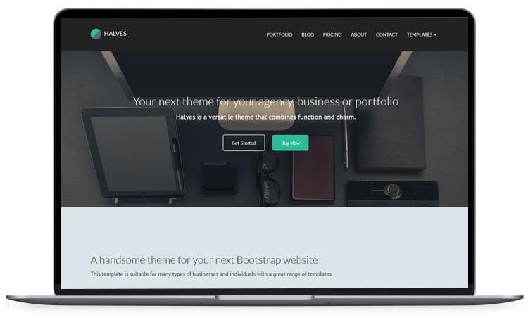 Halves-Responsive-Versatile-Template - 62+ Best Free HTML5 Website Templates [year]