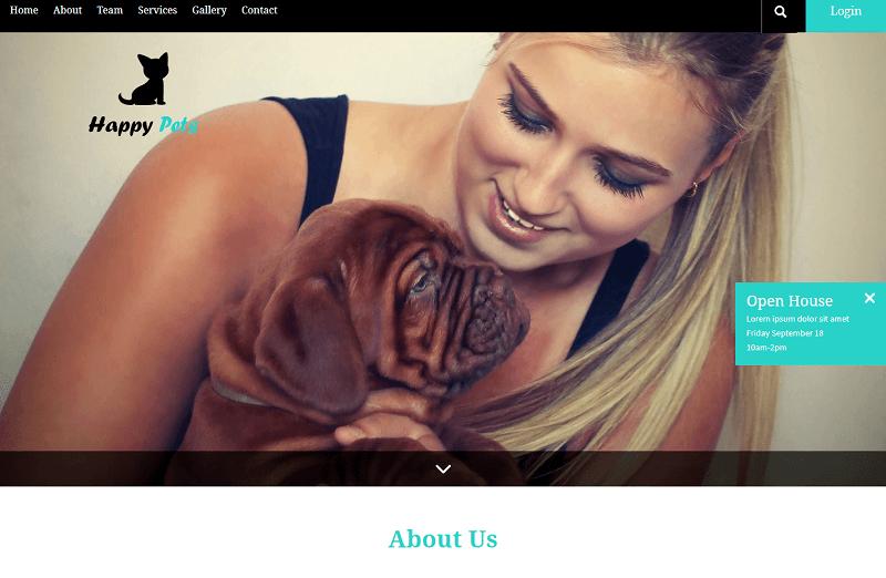 Happy-Pets-1 - 56+ Best Free Animals & Pets HTML Website Templates