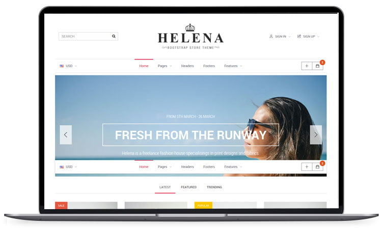 Helena-HTML-OpenCart-Store-Theme - 62+ Best Free HTML5 Website Templates [year]