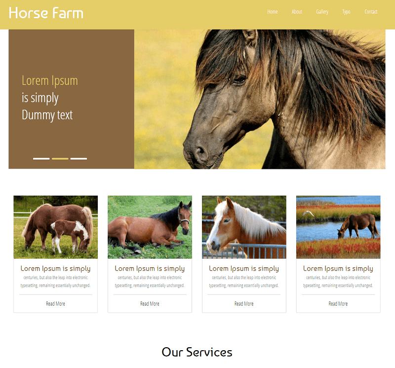 Horse-Farm-1 - 56+ Best Free Animals & Pets HTML Website Templates