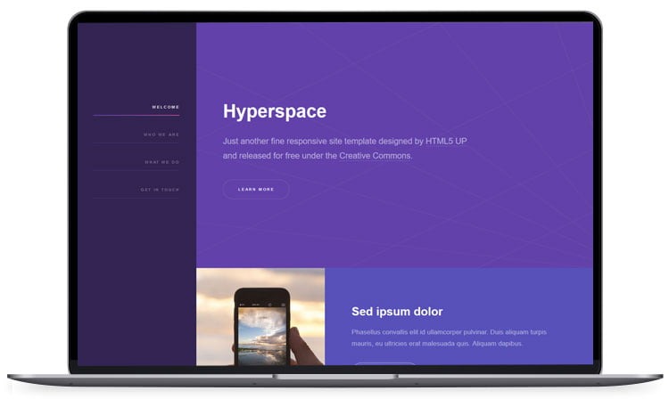 Hyperspace - 62+ Best Free HTML5 Website Templates [year]