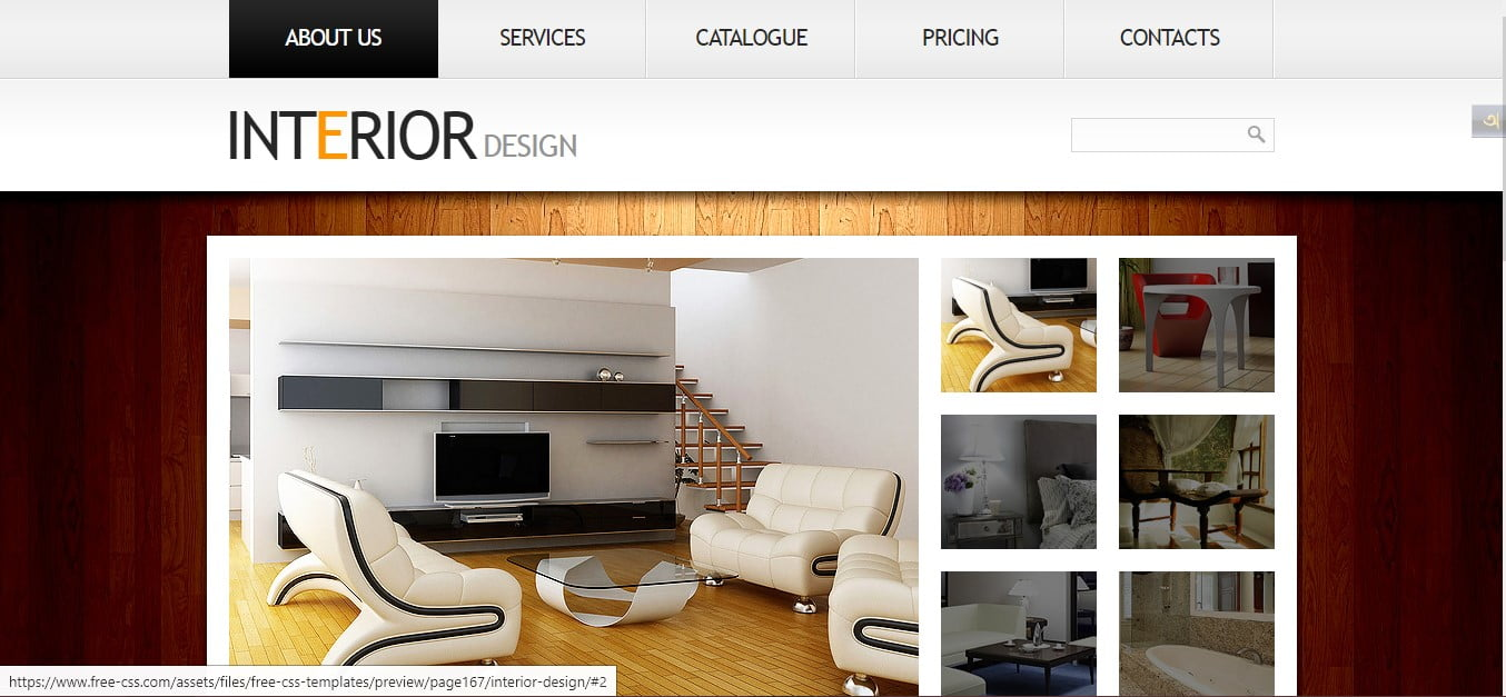 INTERIOR-DESIGN - 56+ Best Free Architecture HTML Website Templates [year]